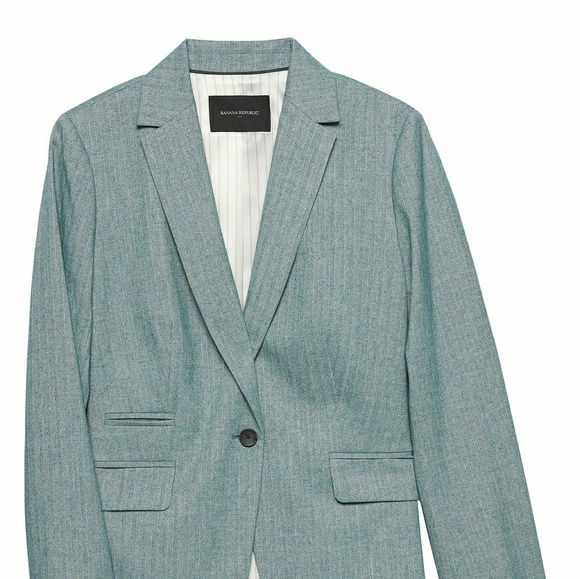 Banana Republic Factory Jackets & Blazers - Banana Republic teal Herringbone Blazer. Size 4